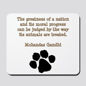 Gandhi Animal Quote Mousepad